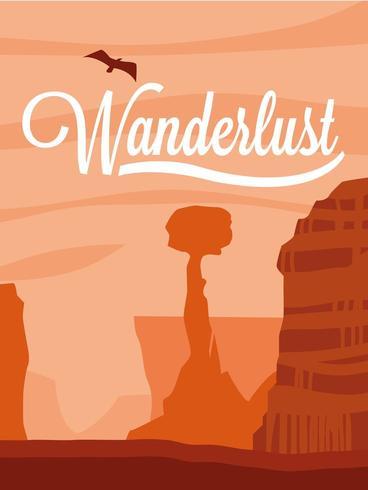 scene landscape desert wanderlust poster