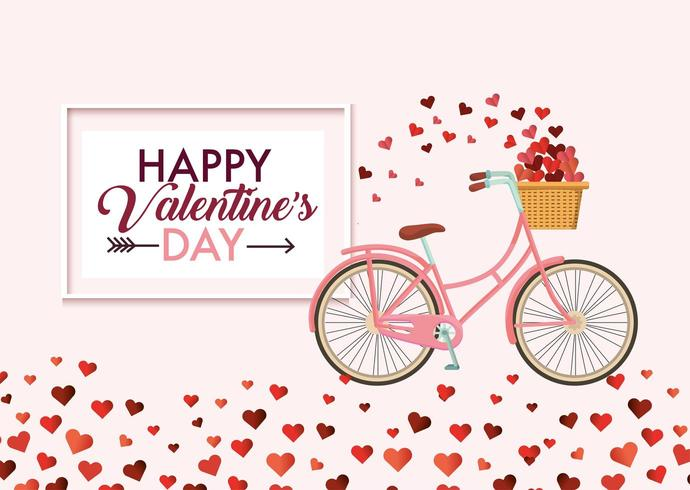 Mensaje de feliz dia de san valentin vector