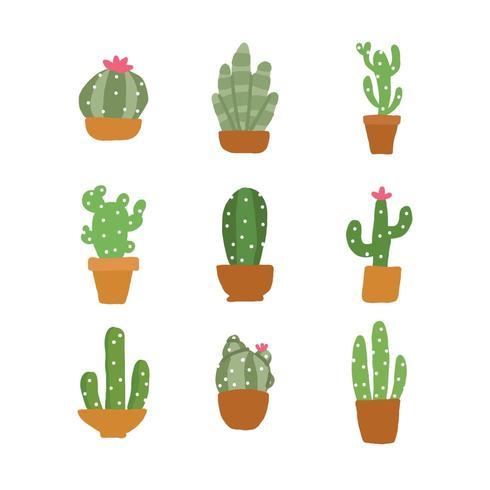 Kaktus-Doodle-Set