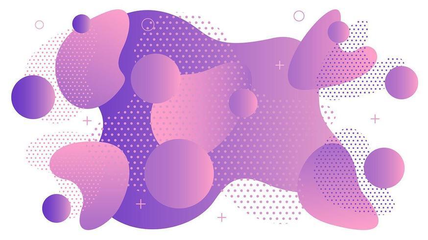 abstrakt lila kurvor memphis bakgrund vektor
