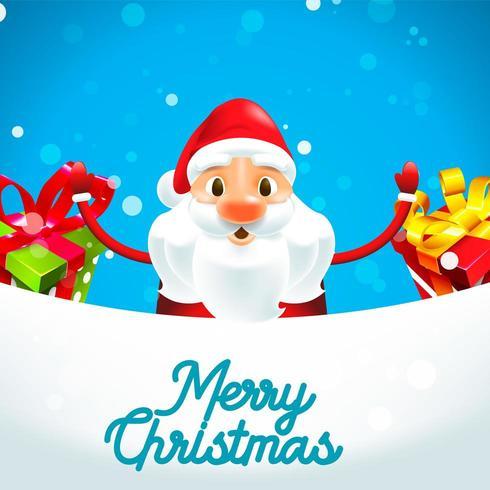 Merry Christmas Santa Claus met geschenken vector