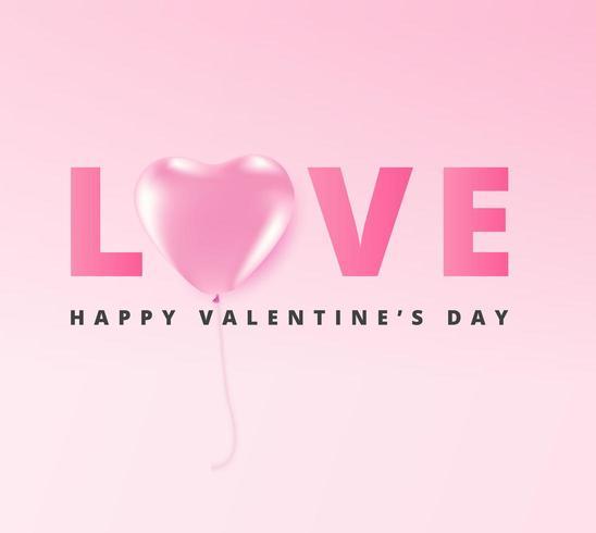 Happy Valentine's Day greeting card design