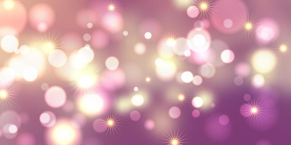 Bokeh lights and stars banner design