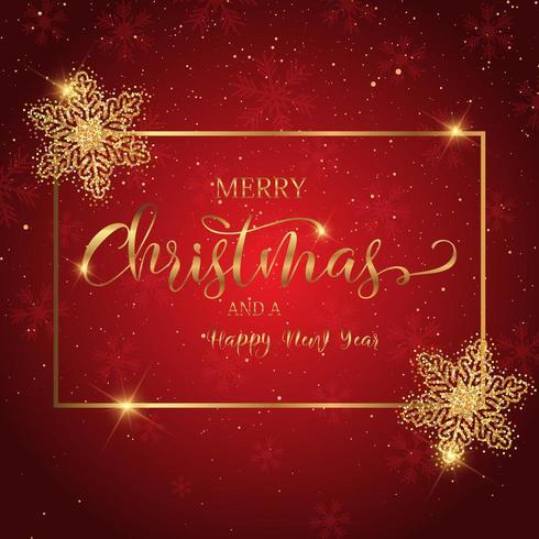Sfondo di Natale con testo decorativo vettore