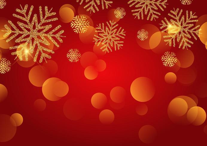 Sfondo di Natale con fiocchi di neve glitter