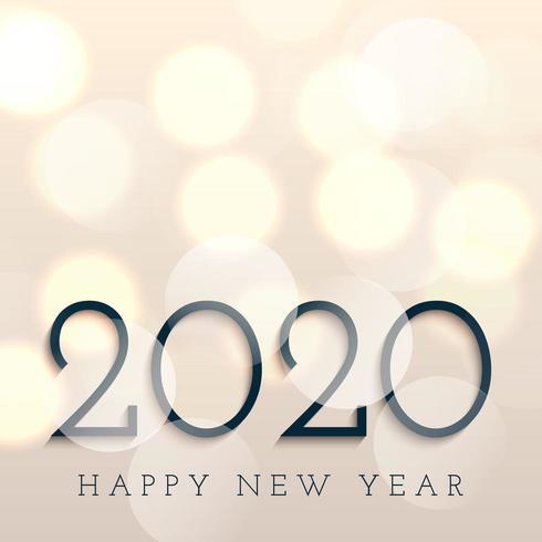 Felice Anno Nuovo sfondo con luci bokeh
