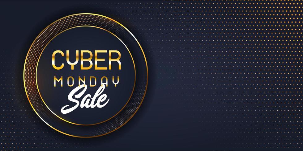 Modern cyber Monday sale banner  vector