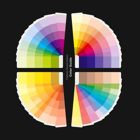 Ilustração do guia de paletas de cores para moda, design de interiores para casa vetor