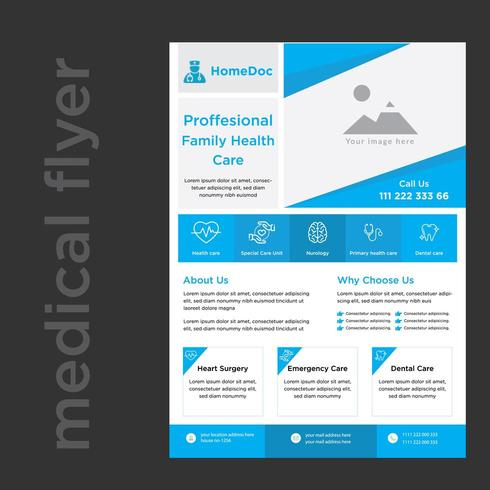 Doctor Advertisement Medical Services Promotional Flyer vector