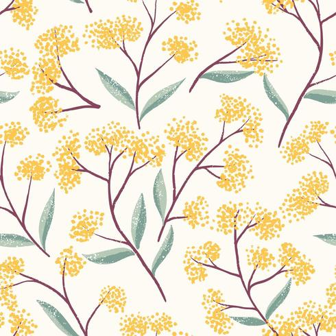Field Foral Seamless Pattern-01 vector