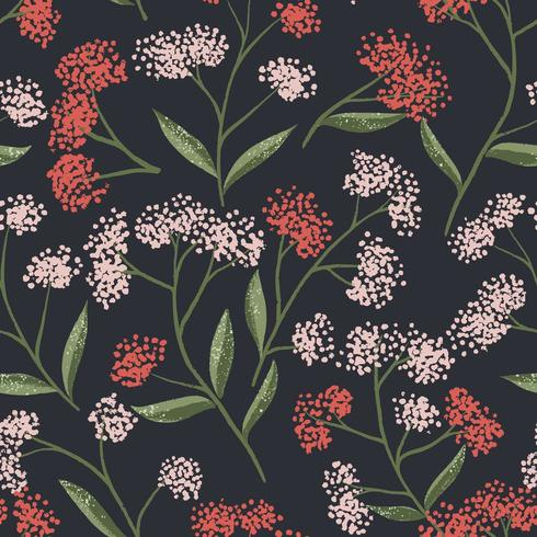 Field Foral Seamless Pattern-04 vector