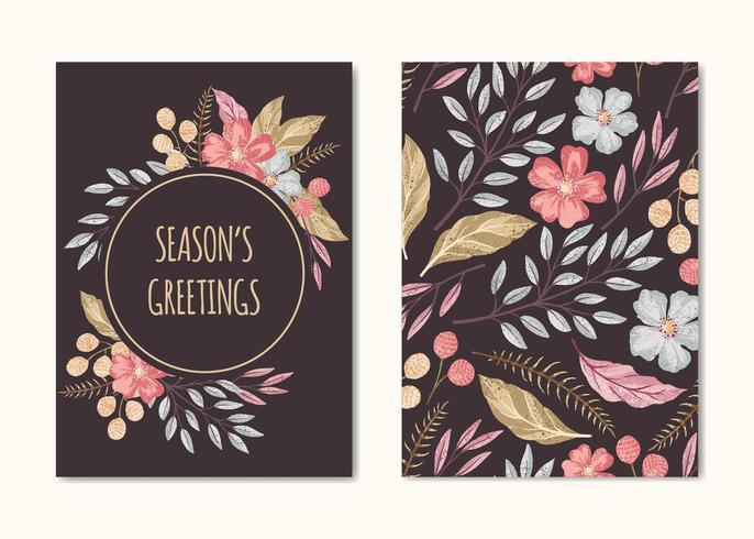 Coleção de cartão de saudações de temporadas