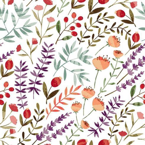 Spring Garden Pattern vector