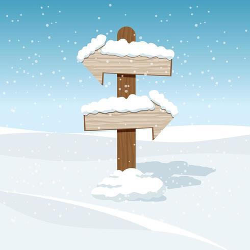 Arrow signs in snow