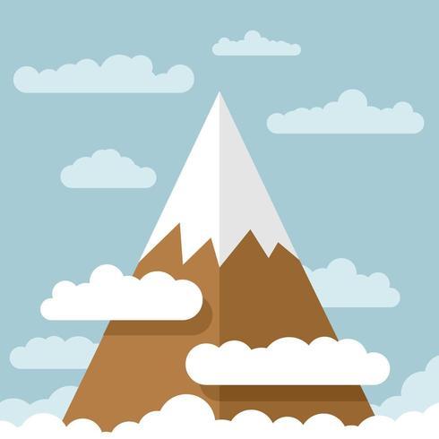 Montagna con nuvole