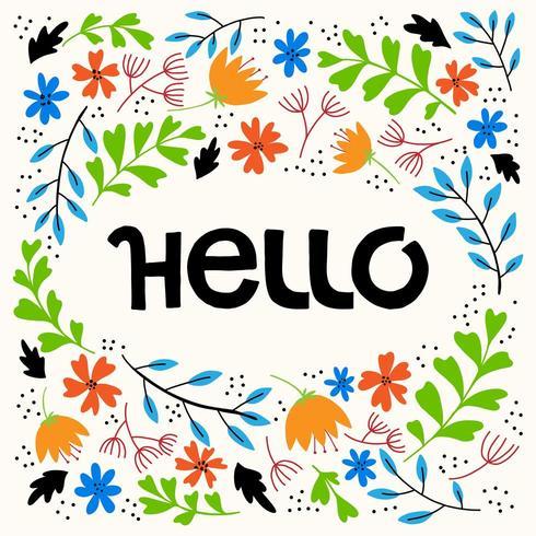 Ciao scritte a mano a colori