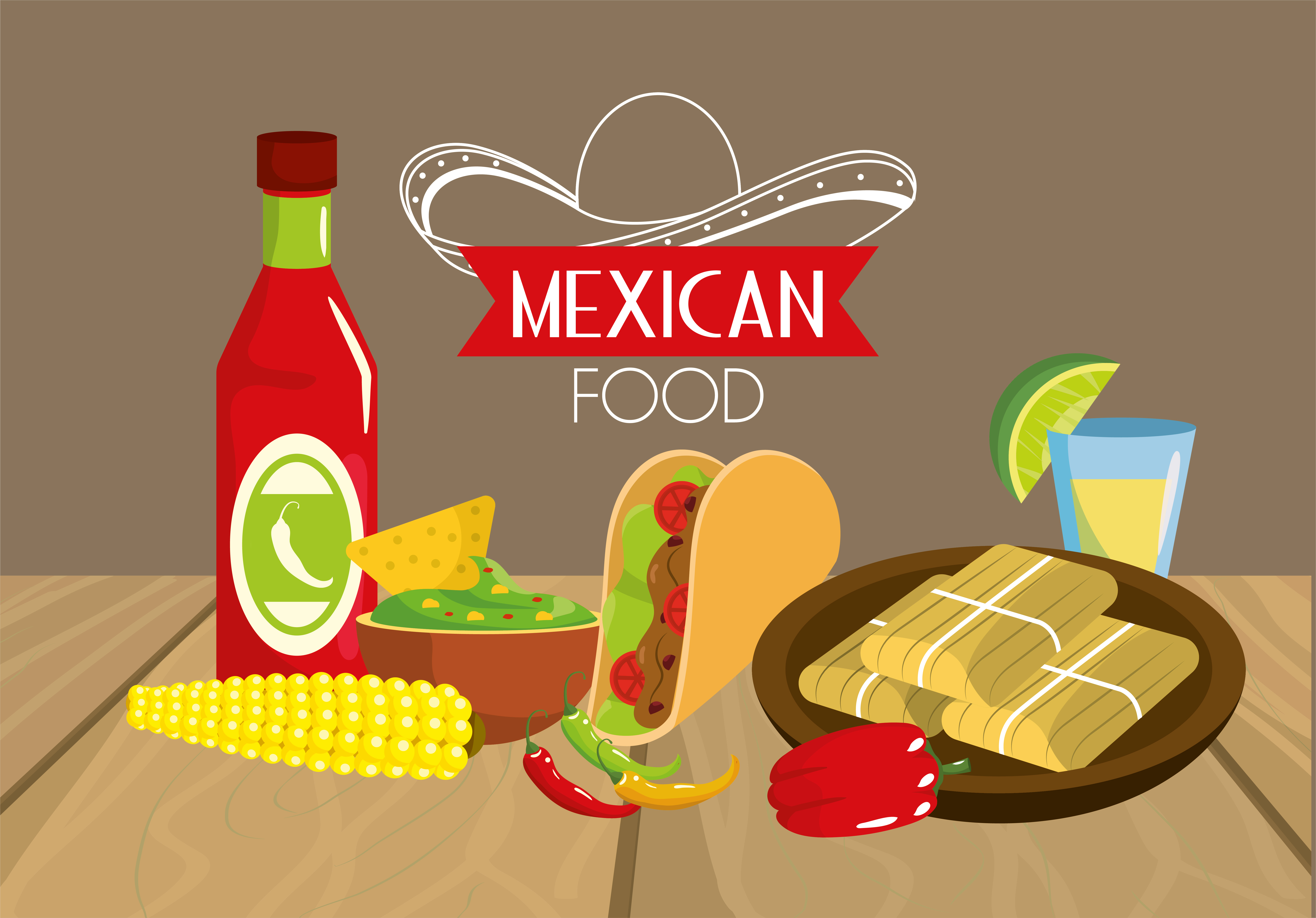 Mexican Tacos Food With Sauces And Cob Download Free Vectors Clipart Graphics Vector Art