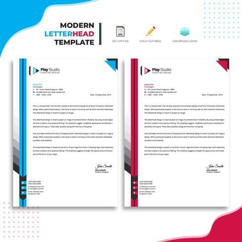 Design moderno modello di carta intestata
