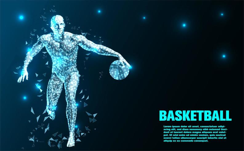 Basketball player Abstract Technology background