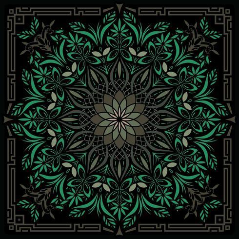 Illustration géométrique psychédélique Mandala