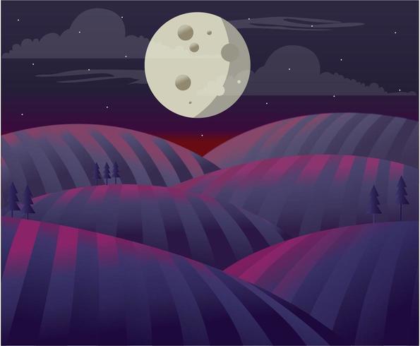 Full Moon Over The Plain