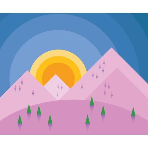 Colorful Sunrise In Mountain