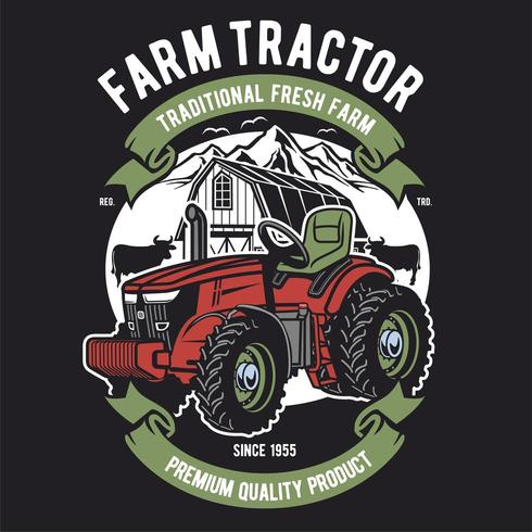 Conception de tracteurs agricoles vecteur