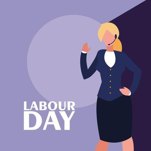 dag van de arbeid viering met zakenvrouw vector