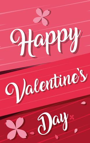 happy valentines day card with flowers