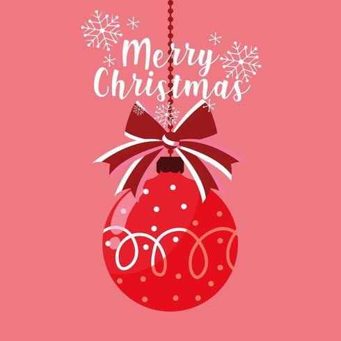 feliz navidad bola colgante decorativo vector