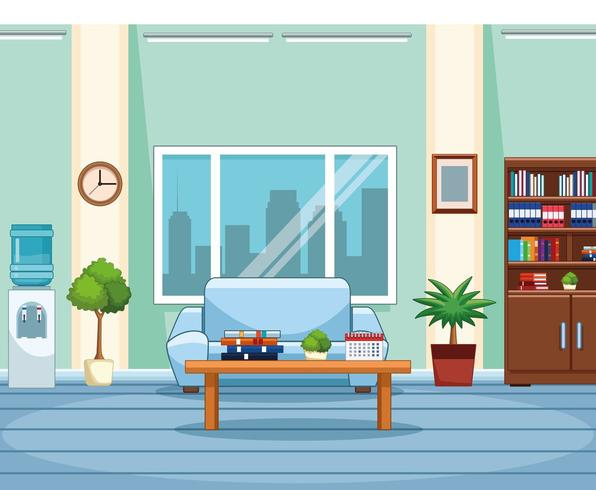 Business office workplace vector