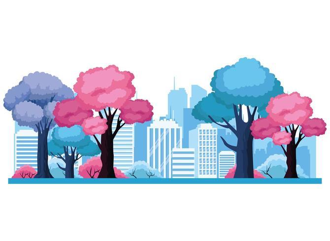 Urban cityscape scenery vector