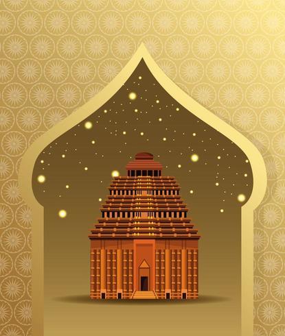Arquitectura del edificio del monumento nacional de la India