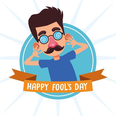 April fools day cartoons vector