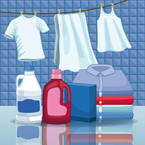 suministros de limpieza y limpieza vector