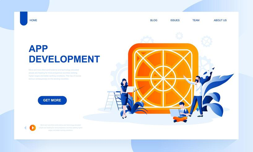 UX design landing page template