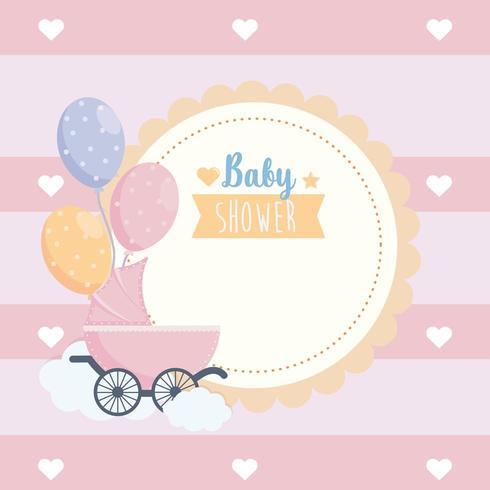 etichetta della celebrazione del poster di baby shower