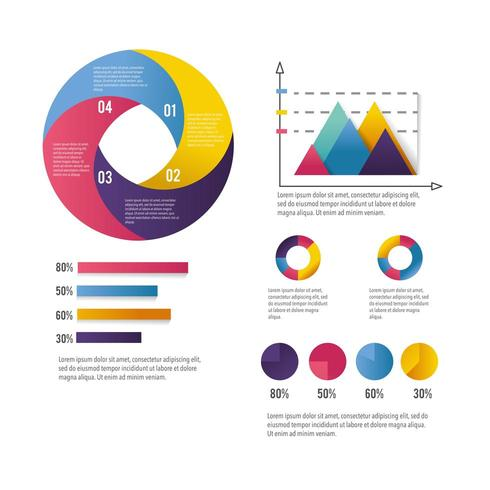 infographic business diagram with information strategy vector
