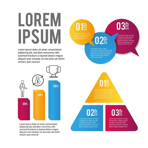 infographic business data and strategy information vector