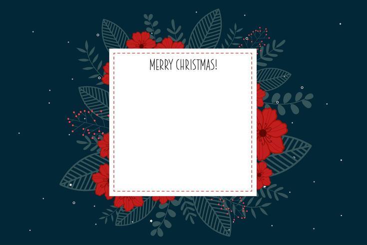 Poster buon Natale con cornice bianca