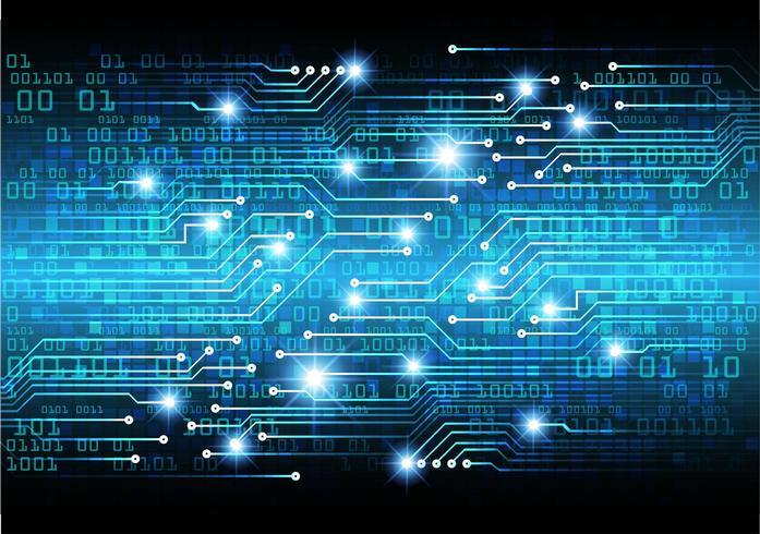 Código cibernético azul vetor