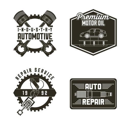 industria automotriz servicio automotriz vector