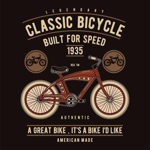 Bicicleta clásica diseñada para un diseño rápido vector