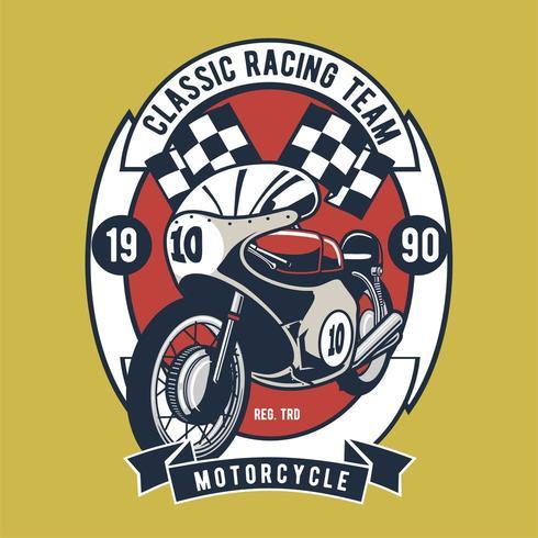 Insignia del equipo de motociclismo clásico