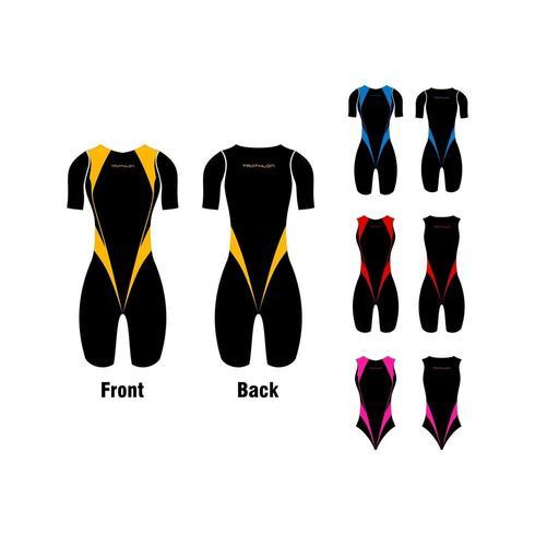 Triathlon-Kleidungssatz vektor