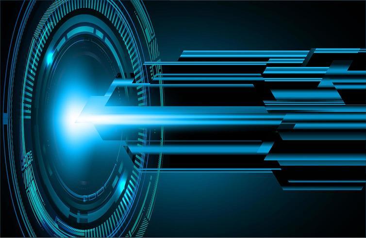 Blue cyber circuit future technology concept  vector