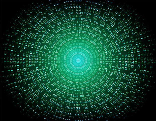 Circuito binário verde vetor