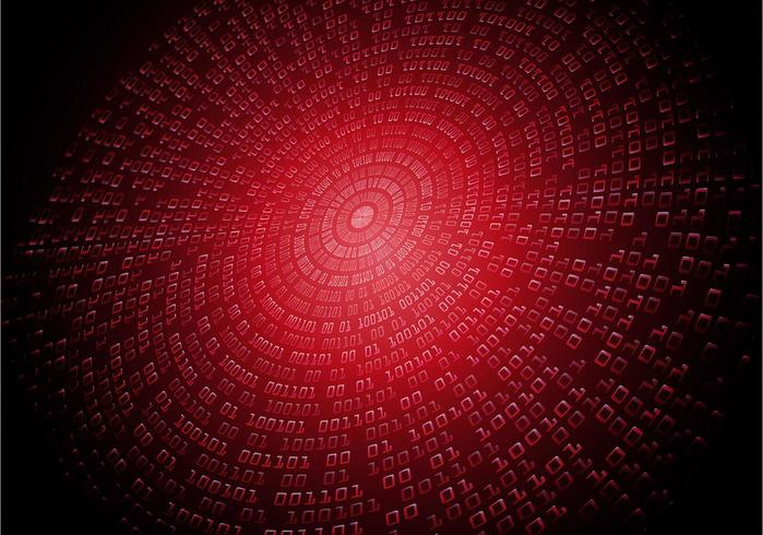 red binary cyber code vector