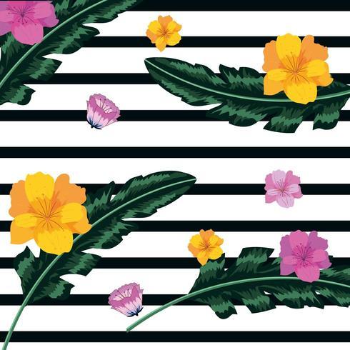 Fondo floral vintage vector