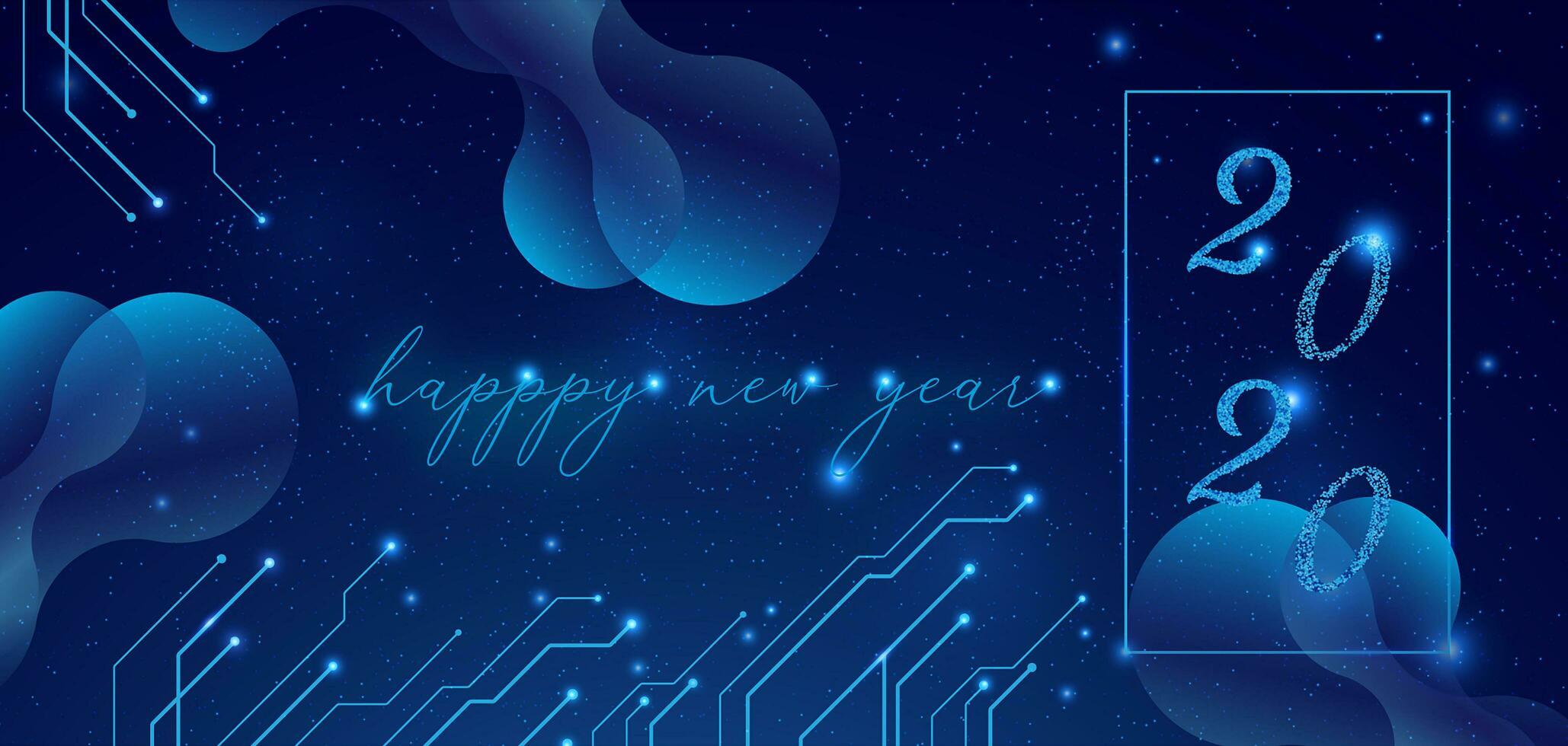 Elegant happy new year 2020